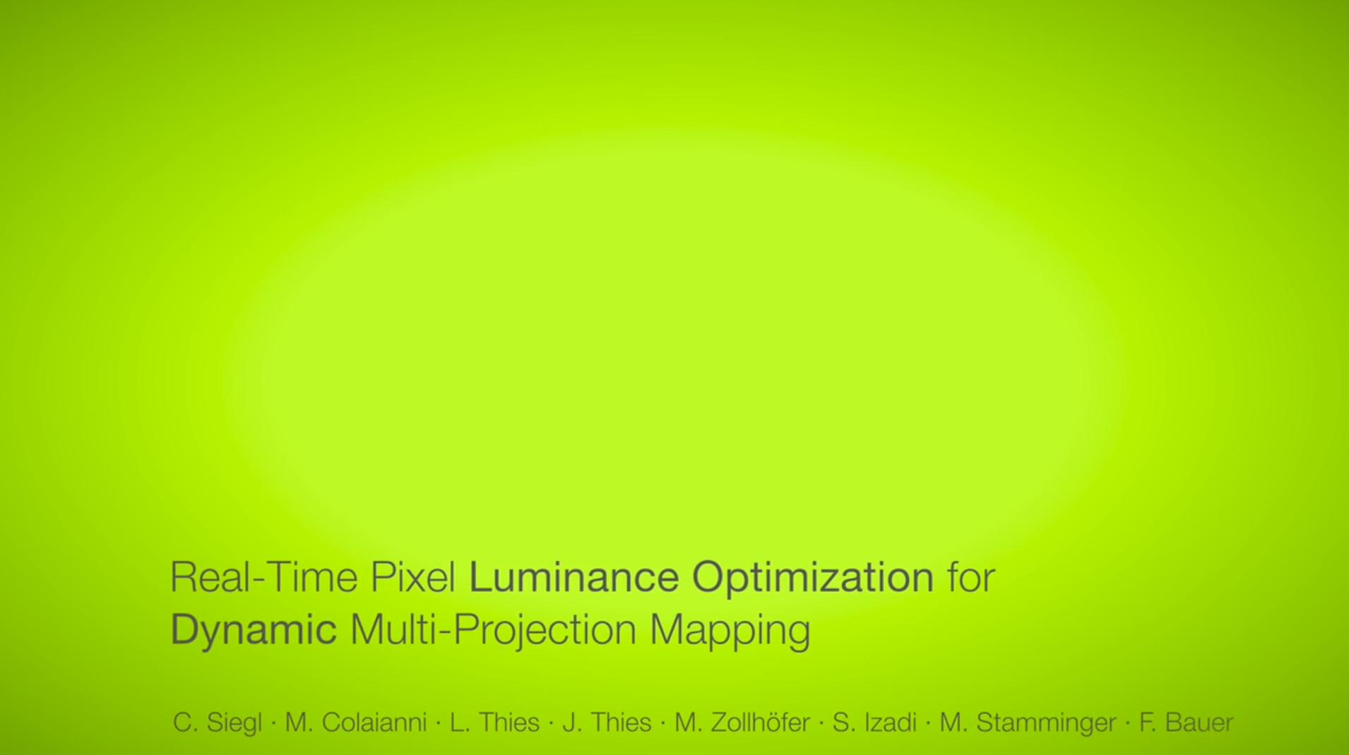 Real-Time Pixel Luminance Optimization for Dynamic Multi